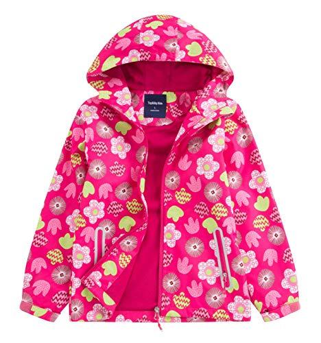 TOP&SKY KIDS Kinder Winter Jacke Gefütterte Jacke Warm Outdoor Funktionsjacke mit Kapuze Fahrrad Wandern Laufen Ski Kindermantel