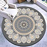 N / A Diamètre 1.8 M / 2 M Salon Tapis Rond Mandala Tapis Rond Chambre Chevet Couverture Balcon Table Basse tapis-200 cm de diamètre_Rose