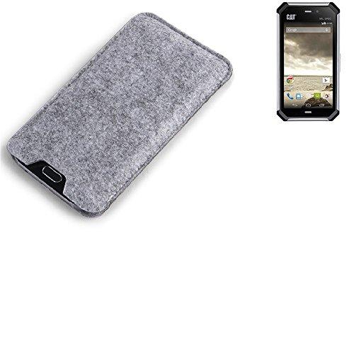 K-S-Trade® Filz Schutz Hülle Für Microsoft Nokia 215 Dual SIM Schutzhülle Filztasche Filz Tasche Case Sleeve Handyhülle Filzhülle Grau