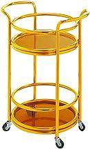 Napoje na kółkach do serwowania Ruchoma kuchnia Szkło hartowane ze stali nierdzewnej 2-warstwowe gumowe koło w stylu europ...