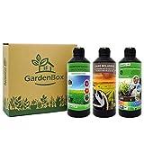 Nortembio Garden Box. Pack para Huerto Urbano. Reductor de pH Ecológico + Activador de Nutrientes + Estimulador del Crecimiento. Mejor Sabor y Aroma. Cultivos de Interior y Exterior. E-Book Incluido.