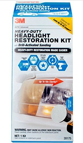 3m headlight cleaners 3M Heavy Duty Headlight Restoration Kit with Quick Clear Coat, 39175
