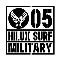 ミリタリー HILUX SURF ハイラックスサーフ カッティング ステッカー ブラック 黒