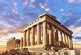 LFEEY 5x3ft Sunset Greece Parthenon Photo Backdrop Historical Building Famous Palace Ancient Athens Acropolis Temple Column Photography Background Photo Studio Props
