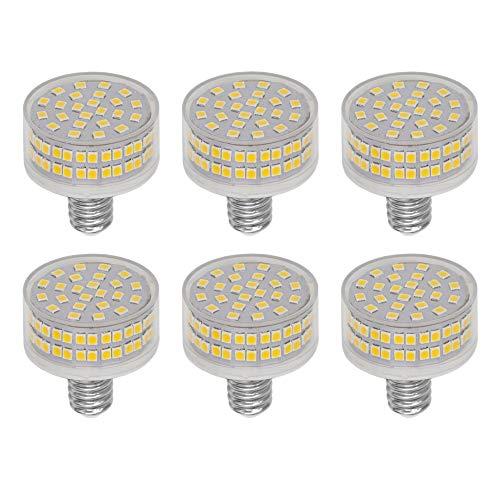 LED Leuchtmittel E14 9W, Flach Rund, 88 LED-Chips, Ersatz 90W E14 Halogenlampen, 3000K Warmweiß, 900 LM, 360 Grad Abstrahlwinkel, AC 220-240V, Nicht Dimmbar, 6 Stück