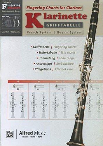 Grifftabelle Klarinette Boehm-System | Fingering Charts Bb Clarinet French System | Klarinette | Buch (Englisch) ( 18. Oktober 2013 )