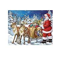 Aibecy 大人と子供のためのDIY5Dダイヤモンドペインティングキットクリスマス漫画パターンフルドリル刺繡クロスステッチアートクラフト、ホームルームの壁の装飾用ツール付き、30 * 20cm / 11.8 * 7.9in