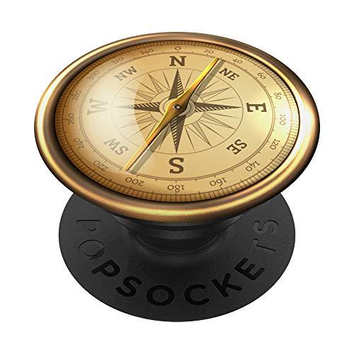 Nautischer Kompass Rose Cool Geschenk für Abenteurer PopSockets PopGrip: Ausziehbarer Sockel und Griff für Handys/Tablets mit Tauschbarem Top