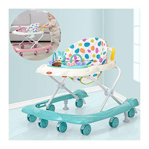 CJW-LC Baby Lauflernhilfe Mit Bremse Höhenverstellbare, Zusammenklappbarer Anti Rollover Gehhilfe Mit 8...