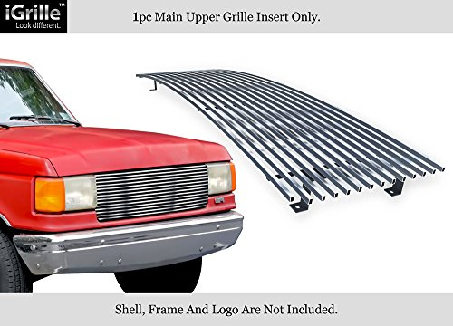 APS Compatible with 1987-1991 Ford Bronco F-Series Pickup Chrome Stainless Steel Billet Grille Insert F85009C
