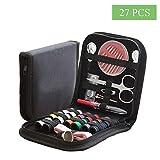 Kit da Cucito Portatile Set, Kit Cucito Compatto, Set da Cucito 27 PCS Accessori da Cucito, per Sarto, Famiglia, Principiante, Viaggio e Uso D'emergenza