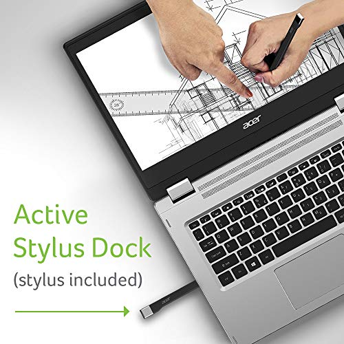 Acer Spin 3 Convertible Laptop, 14 inches Full HD IPS Touch, 8th Gen Intel Core i7-8565U, 16GB DDR4, 512GB PC   Ie NVMe SSD, Backlit KB, Fingerprint Reader, Rechargeable Active Stylus, SP314-53N-77AJ