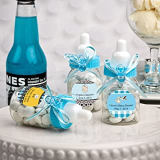 Charmed Baby Bottle Shower Favor,3-Inches, Blue (Pack of 24)