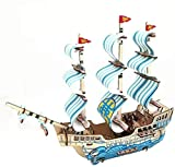 Taoke S Puzzle Spielzeug aus Holz Dreidimensionales Puzzle 3D-Modell Assembled Adult Dekomprimierung Segelboot Handbuch Stecker 8bayfa