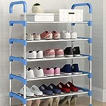 LederleiterUSA Shoe Rack Metal Shoe Tower Shoe Storage Organizer Shelf Stackable Cabinet with Durable Metal Shelves