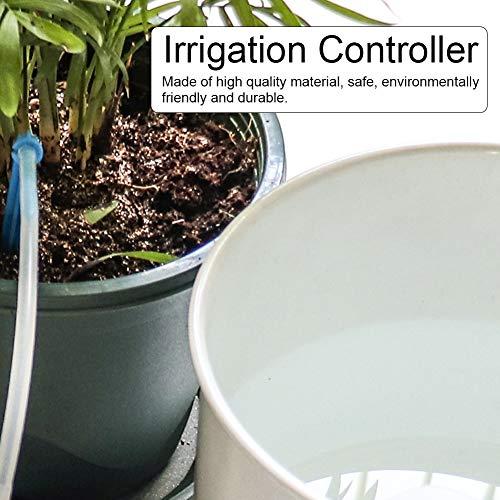 Wosune Juego Completo de Accesorios, Temporizador de riego, Controlador de riego, para la Agricultura de Invernadero de jardín Trasero