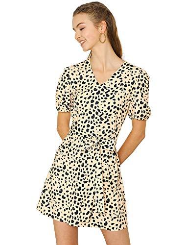 Allegra K Kleid Leopard, Beige