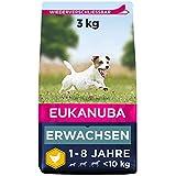 Eukanuba Hundefutter mit frischem Huhn für kleine Rassen, Premium Trockenfutter für ausgewachsene Hunde, 3 kg