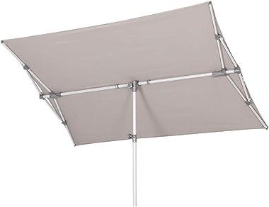 Glatz Parasol Flex Roof 210x 150Poteau central Taupe ameublement jardin