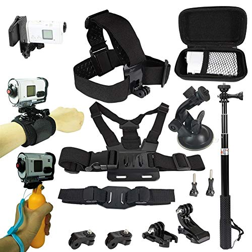 XUSUYUNCHUANG Kit Accessori Per Sony Action Camera Per FDR X3000 Hdr-AS15 AS20 AS30v AS300 AS50 AS100v AS200v HDR-Az1 X1000v Sport Cam Holder