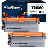 Valuetoner Compatible Toner Cartridge Replacement for Brother TN660 TN-660 TN630 TN-630 High Yield to use with HL-L2300D HL-L2320D HL-L2340DW HL-L2360DW MFC-L2720DW MFC-L2740DW DCP-L2540DW (2 Black)