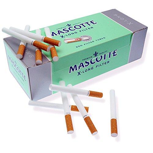 Mascotte X-Long Tubetti con Filtro King Size - Box da 200 Sigarette Vuote