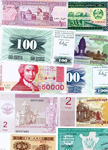 Nice1159 10 Banknotes Different Foreign, Currency, History Rare - Long time Worth Suitable for Collector