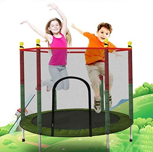 XLYAN Trampolines para Niños En El Patio Al Aire Libre En Interiores, Trampolín para Niños De 3 a 12 Años con Cerramiento,Red