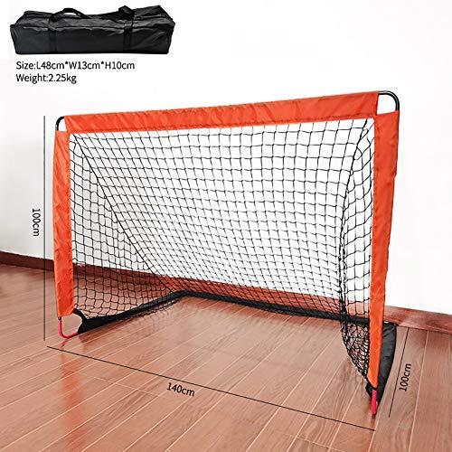 SGGMRR Tragbares Hallenfußballziel, gefaltetes Fußballtrainingsnetz für den Außenbereich, mit elastischem Netz, Gartenfußballtraining für Kinder, Kindertür