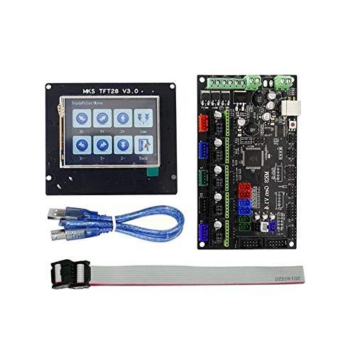 TONGDAUR MKS-GEN V1.4 Contrôleur intégré de 2,8 Pouces + Mainboard MKS-TFT28 Pleine Couleur LCD Tactile de Soutien écran Alimentation CV Compatible Imprimer RepRap Ramps1.4 for imprimante 3D