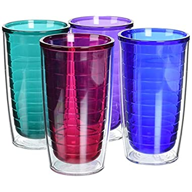 Tervis Assorted Tumblers, 16-Ounce, Jewel, 4-Pack