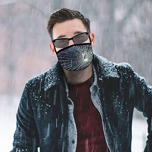 N/A Glas-Tapete schwarz Gesichtsmasken waschbar Ohrschlaufe wiederverwendbar für Männer Frauen Radfahren Reisen maßgeschneidert