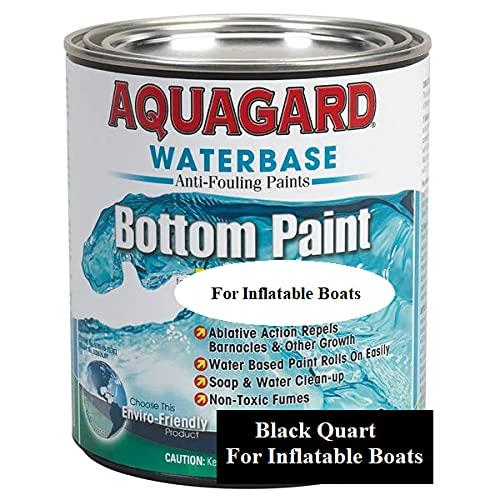 Aquagard Waterbased Inflatable Boat Ablative Antifouling Bottom Paint Black Quart