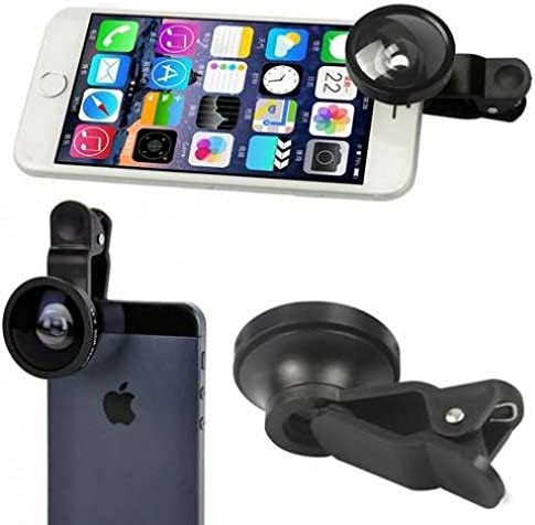 Fisheye Lens Compatible with HTC One M9 Phone Wide Angle Selfie Macro Camera Clip 2 in 1 product image