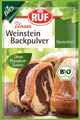 RUF Bio Weinstein Backpulver, 20er pack (20 x 3 x 20g)