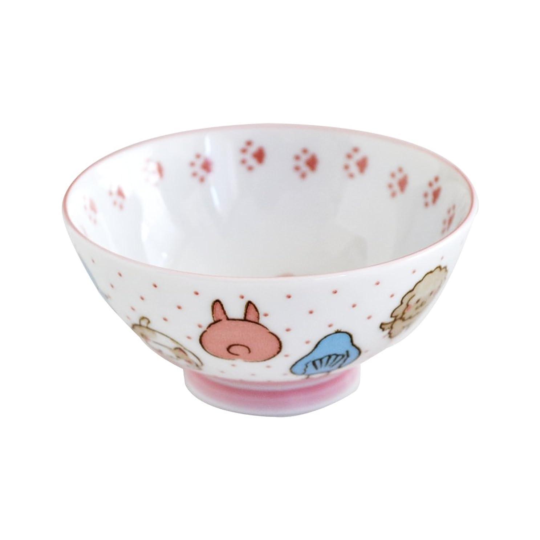 ロゴ未亡人デンマーク語子供茶碗 動物大好き 女の子用