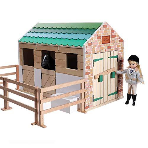 Lottie Dolls Stable Playset   Toy Farm Playset   Toy Barn   Toy Horse Stable Playset   Wooden Barn