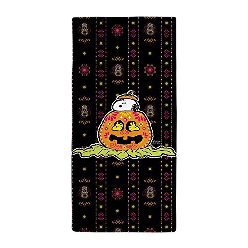CafePress Handtuch–Peanuts Snoopy Day Of The Dead Snoopy Kürbis Strand Handtuch–Weiß