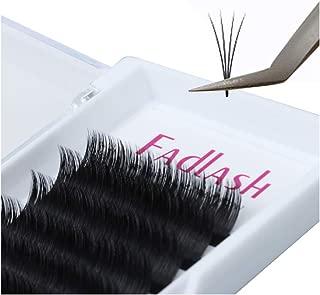 Easy Fan Volume Lashes FADLASH Volume Lash Extensions D Curl 15mm 0.07mm Self Fanning 2D~10D Rapid Blooming Lashes (0.07-D, 15mm)