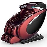 QQ HAO Silla De Masaje De Gravedad Cero 3D, Sillón De Cuerpo Completo, Sillón De Shiatsu, Sofá Multifuncional,Rojo