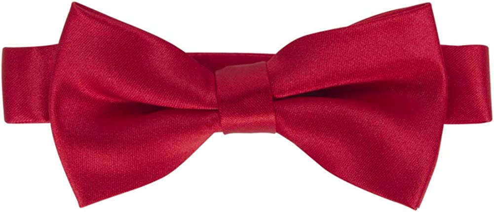 Adjustable Pre-tied Solid Bow Tie for Boys & Girls