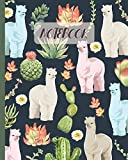Notebook: Llama & Cactus Succulent - Lined Notebook, Diary, Track, Log & Journal - Cute Gift Idea for Boys Girls Teens Men Women (8' x10' 120 Pages)