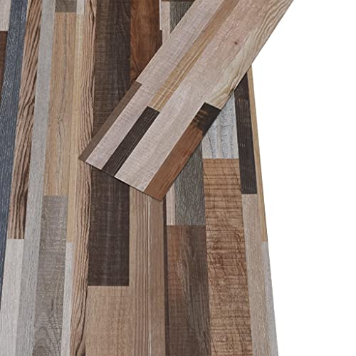 Susany 32X Lamas de Suelo Autoadhesivas Baldosas de Suelo para Cocina Salón Terraza Impermeable Antideslizante Antiestático Ignífugo PVC Multicolor 4,46 m² 3 mm