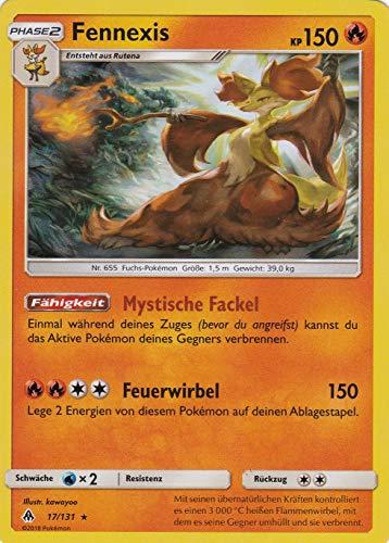 17/131 - Fennexis - Rare Holo - Pokemon - Deutsch - Grauen der Lichtfinsternis