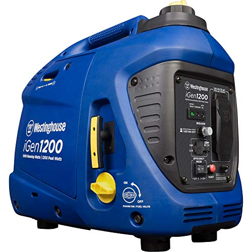 Westinghouse iGen1200 Super Quiet Portable Inverter Generator 1000 Rated 1200 Peak Watts, Gas...