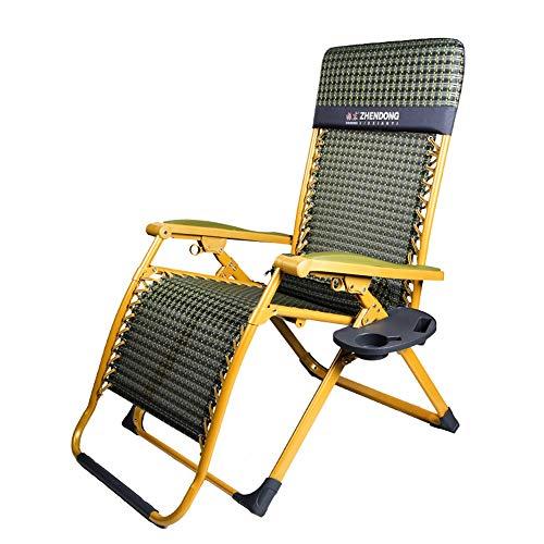 Chaise Zero Gravity Chaises Longues De Patio De Plein Air Yard Pool Beach Inclinable Fauteuil Pliant Avec Porte-gobelets (Couleur : A)