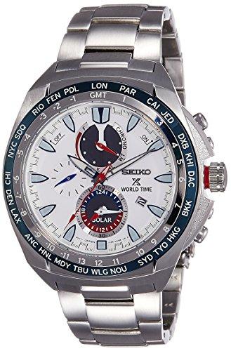 Seiko Herren Chronograph Solar Uhr mit Edelstahl Armband SSC485P1