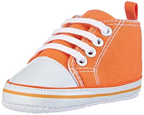 Playshoes Baby Canvas-Turnschuhe, Orange (orange 39) 17