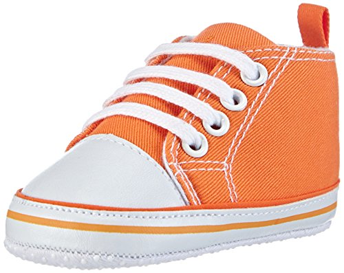 Playshoes Baby Canvas-Turnschuhe, Orange (orange 39) 18