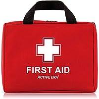 Botiquín de Primeros Auxilios Premium de 220 piezas. Incluye el kit para el lavado de ojos, 2 x Bolsas de Hielo y una Manta de Emergencia. Para el Hogar, Oficina, Coche, Caravana, Viajes y Deportes